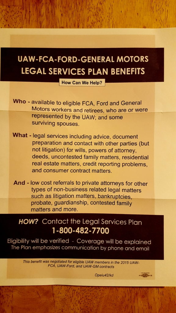 Member Mailbox: Your Free Legal Services | UAW Local 2250