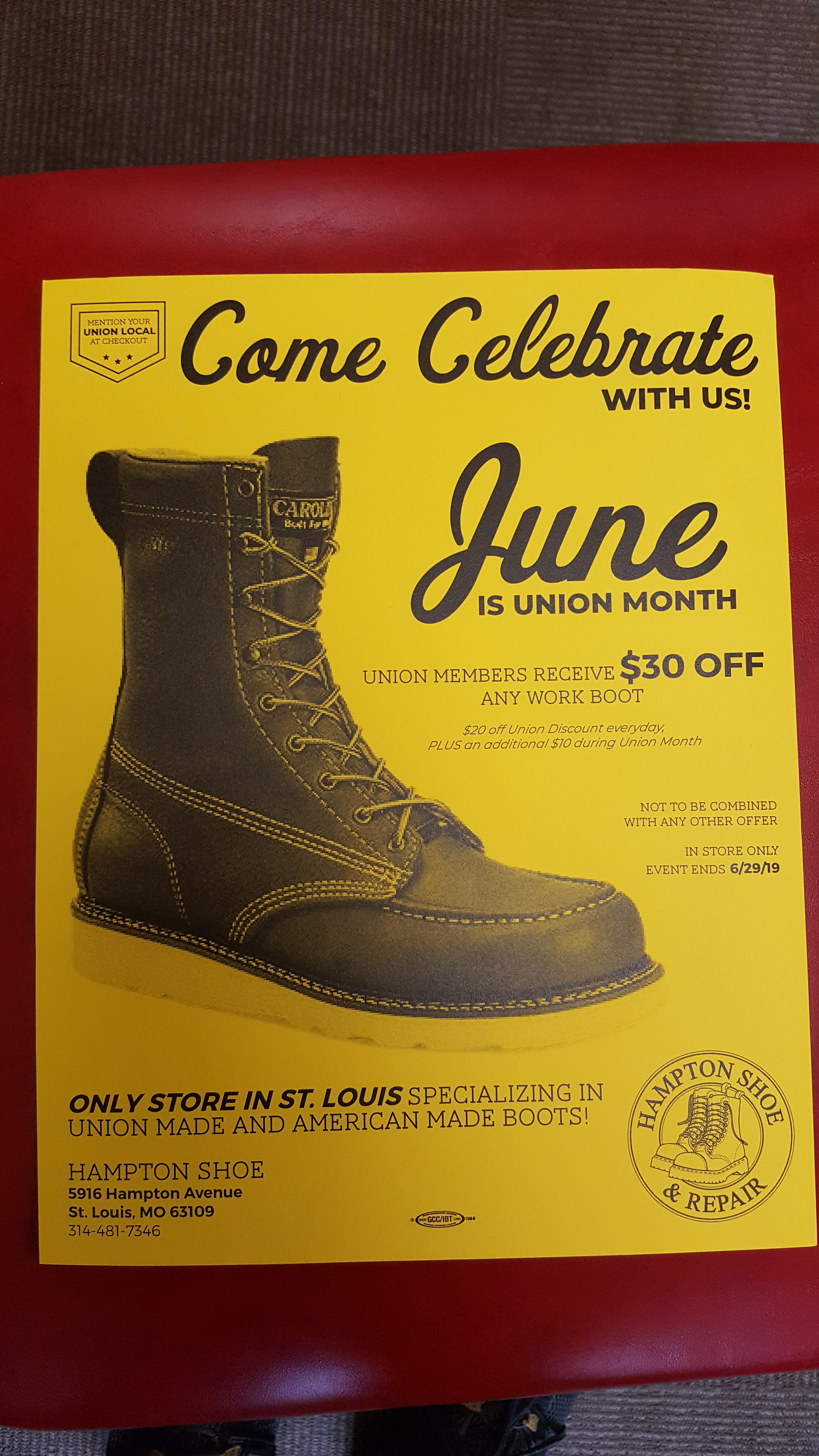 American Work boots | UAW Local 2250